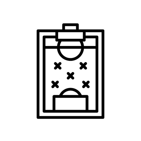 football formation strategy icon. simple illustration outline style sport symbol. 일러스트