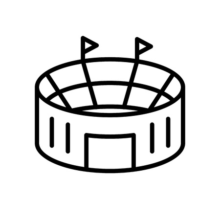 football stadium icon. simple illustration outline style sport symbol. Stok Fotoğraf - 116045304