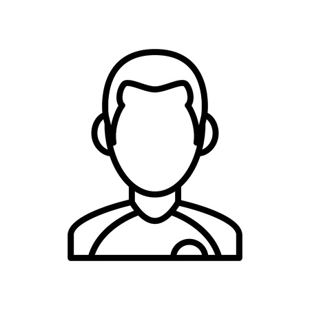 football player icon. athlete man illustration. simple outline style symbol.