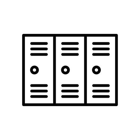 locker icon, change room. simple illustration outline style sport symbol.