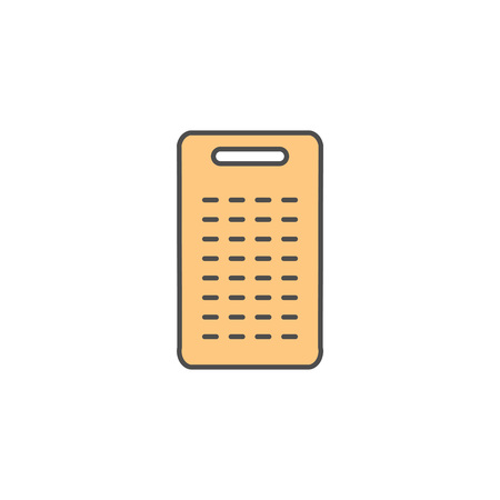 Coconut Grater Tool icon. Kitchen appliances for cooking Illustration. Simple thin line style symbol.