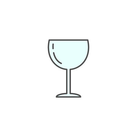 wine glass icon. Kitchen appliances for cooking Illustration. Simple thin line style symbol.
