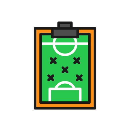 football formation strategy icon. simple illustration outline style sport symbol.