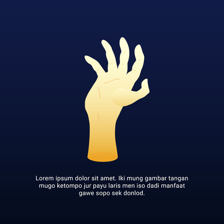 Hand reaching up gesture illustration. People ask for help or human power up concept vector design.