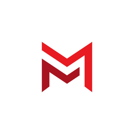 letter mm logo template. double letter m creative symbol vector design.