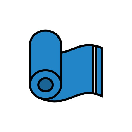 rolled towel icon. simple vector graphic  イラスト・ベクター素材