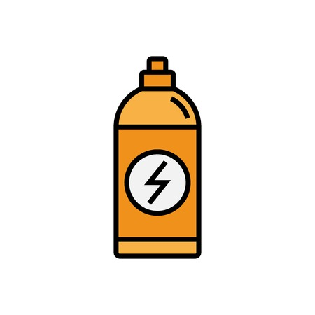 energy drink icon. sport drink bottle illustration. simple vector graphic.