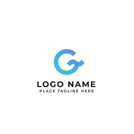 G letter logo design ocean wave concept. circle with tilde symbol vector icon illustration