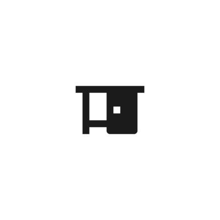 table icon design for workspace symbol. simple clean professional business management concept vector illustration design. Çizim