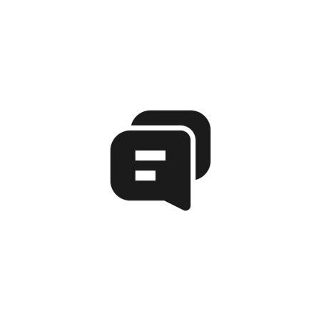communication icon design. bubble text chat symbol. simple clean professional business management concept vector illustration design.