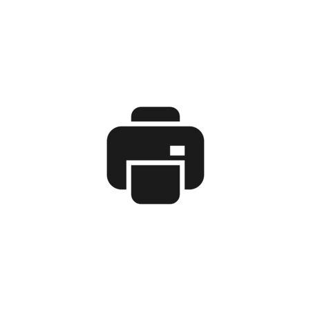 office document paper printer icon design. simple clean professional business management concept vector illustration design.
