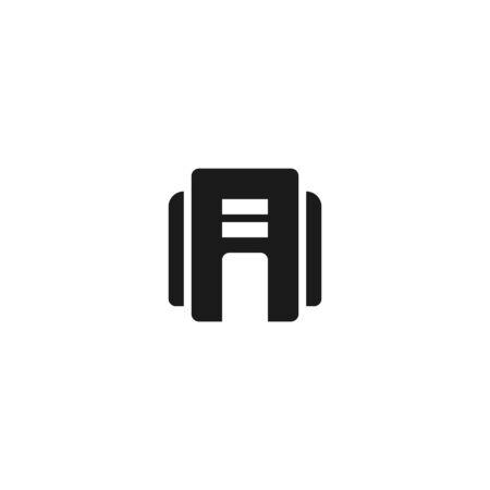 office building icon design. simple clean professional business management concept vector illustration design. Çizim