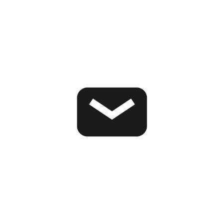 unread new email message icon design. closed mail envelope symbol. simple clean professional business management concept vector illustration design. Çizim