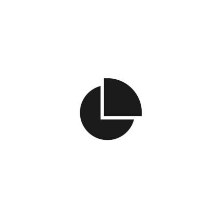 chart pie with quarter slice icon design. simple clean professional business management concept vector illustration design.