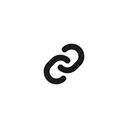 connection and relationship icon design. link chain symbol. simple clean professional business management concept vector illustration design.
