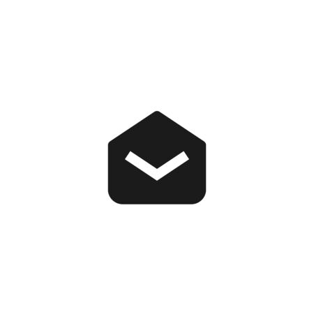read email icon design. opened mail envelope symbol. simple clean professional business management concept vector illustration design. Çizim