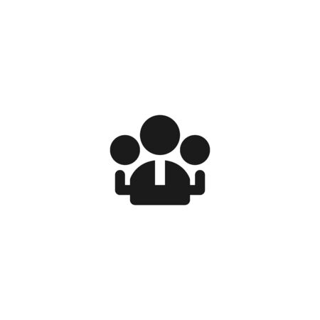 group of employee icon design. workers community symbol. simple clean professional business management concept vector illustration design. Çizim