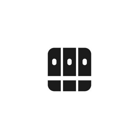 stack of book files icon design. simple clean professional business management concept vector illustration design.