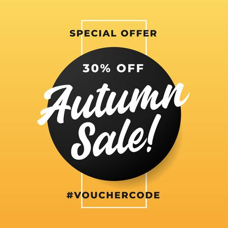 Autumn sale special offer clean poster background vector design