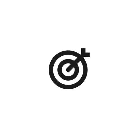 office target icon design. simple clean professional business management concept vector illustration design. Çizim