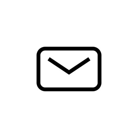unread new email message icon design. closed mail envelope symbol. simple clean line art professional business management concept vector illustration design.
