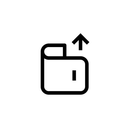 office expense money out icon design wallet with up arrow symbol. simple clean line art professional business management concept vector illustration design. Иллюстрация
