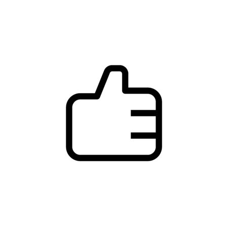 employee good work icon design. thumb up hand sign symbol. simple clean line art professional business management concept vector illustration design.