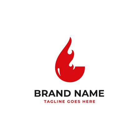 fire bowl logo design for restaurant brand identity vector illustration