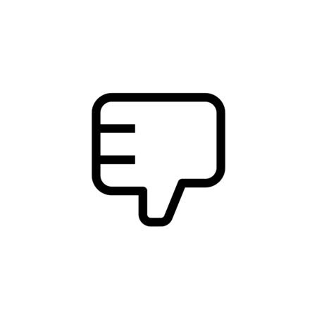 employee bad work icon design. thumb down hand sign symbol. simple clean line art professional business management concept vector illustration design. Иллюстрация