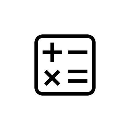 office financial icon design calculator symbol. simple clean line art professional business management concept vector illustration design.
