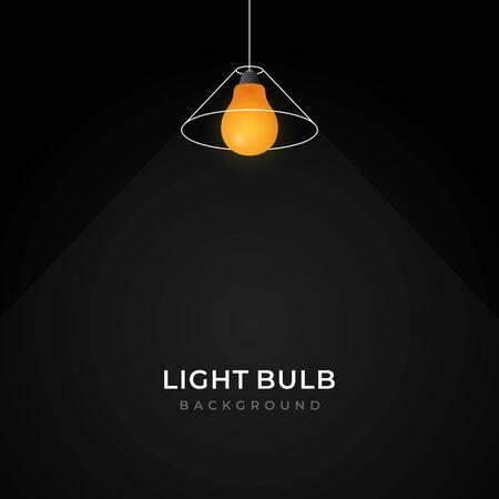simple line loft pendant light bulb hanging lamp illustration creative background design