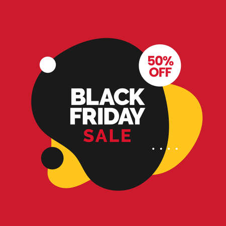 Black friday sale social media poster with modern abstract liquid fluid background vector design