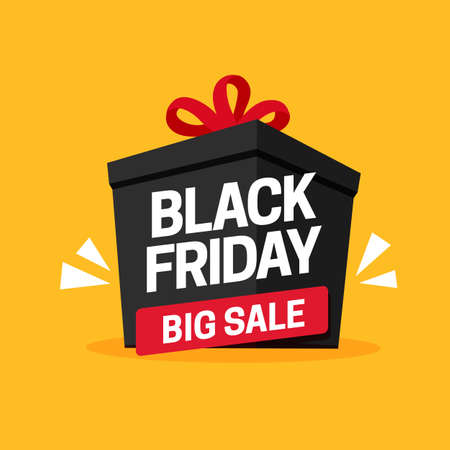 Black friday big sale social media gift promotion poster vector design Ilustrace
