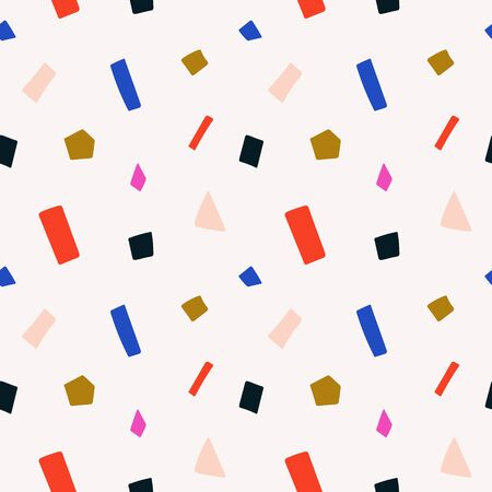Terrazzo colorful seamless vector pattern, endless abstract background with colorful particles, modern colors. Decorative simple contemporary ornament.