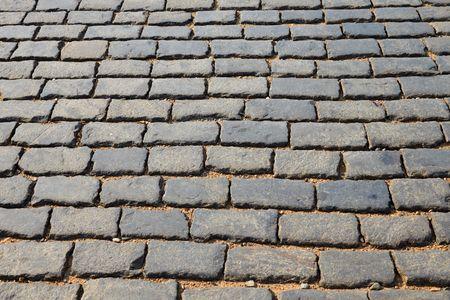 Background Texture Of Red Square Block Pavement photo