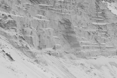 sand quarry: black and white sand quarry
