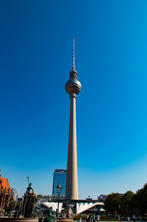 mauer: The big Television Tower in Berlin City