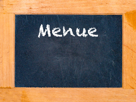 menue: The menue board with white chalk letters