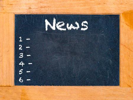 News time chalk board vintage chalk table