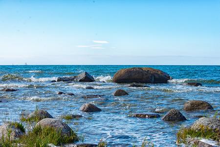 The long and steep coast of Cape Arkona on Ruegen