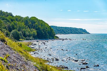 De lange en steile kust van Kaap Arkona op Rügen