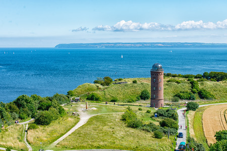 The old Lighthouse Cape Arkona in Ruegen from the top