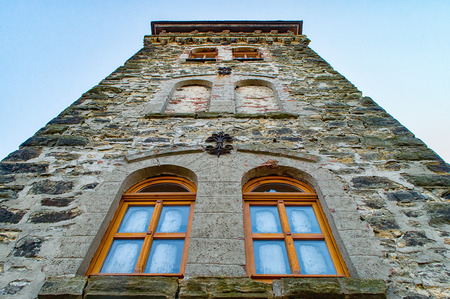 Marie Tower Rudolstadt recorded from below in the winter