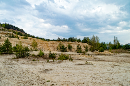 piste: The great Disused sandstone mine in Thuringia