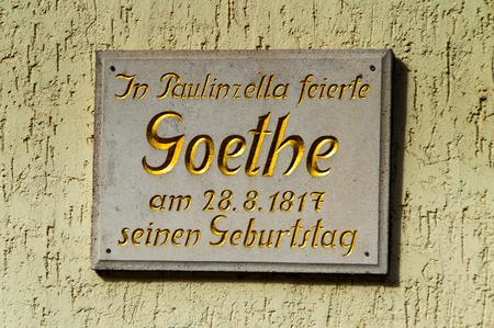The Goethe celebrated his birthday in Paulinzella