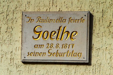The Goethe celebrated his birthday in Paulinzella