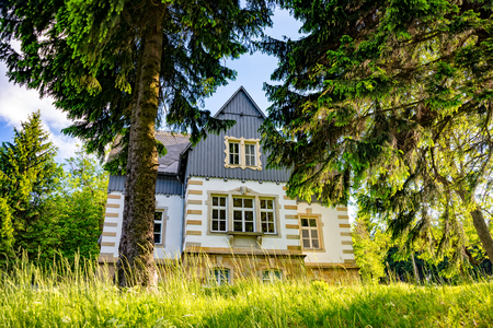 An old Manor house in Saxony Germany Stock Photo