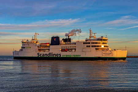 Ferry Puttgarden Fehmarn Stock Photo