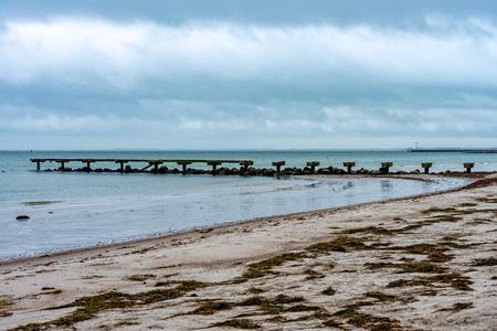 Sandy beach on the island of Fehmarn
