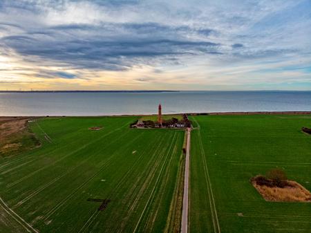 Lighthouse on the island Fehmarn Stockfoto - 116296799